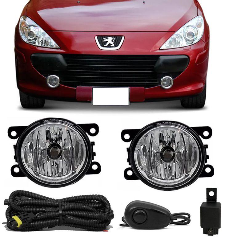 Kit Farol de Milha Neblina Peugeot 307 2007 2008 2009 2010 2011 2012 - Interruptor Alternativo