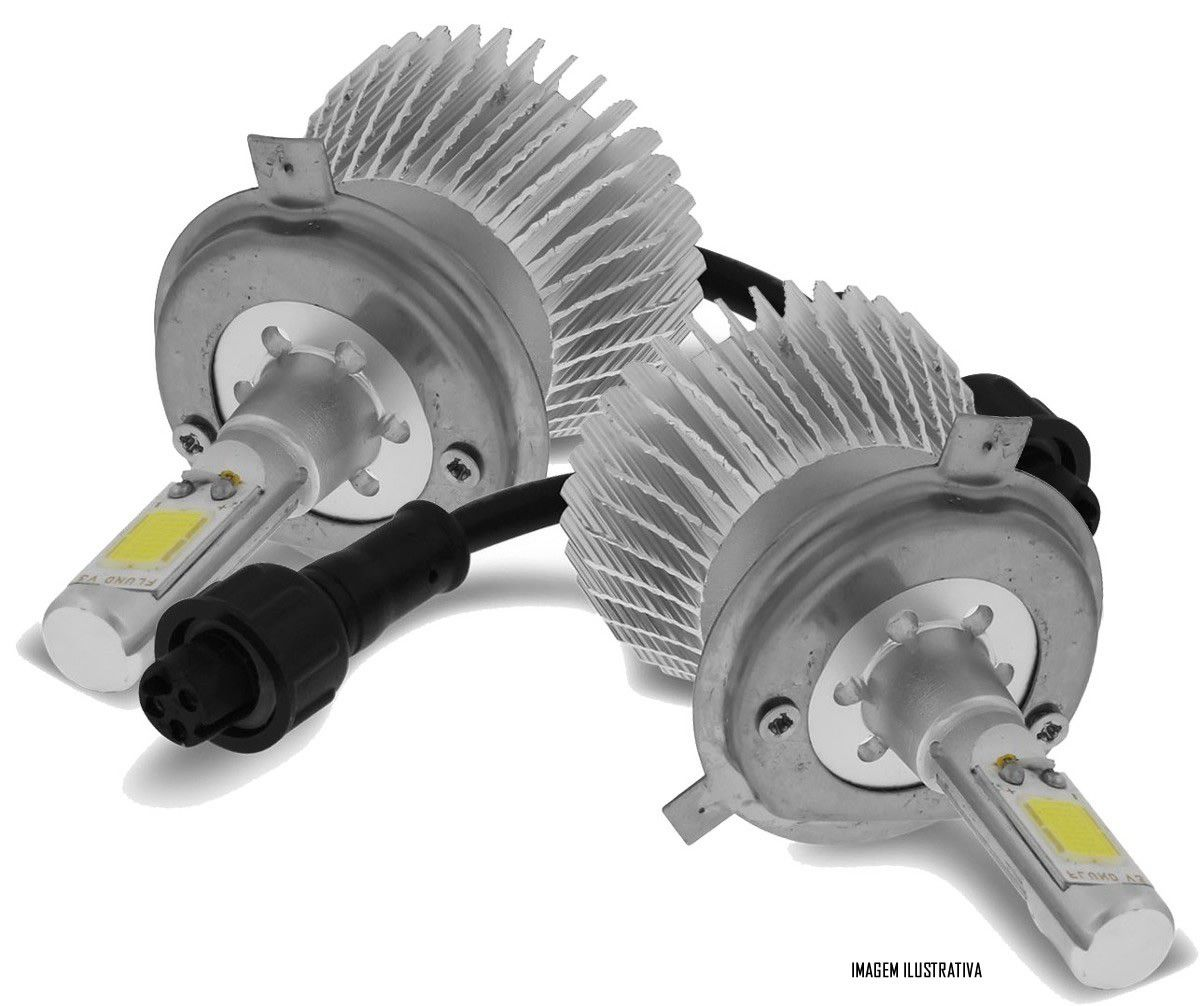 Kit Farol de Milha Neblina Renault Kwid Todos - Interruptor Alternativo + Kit Lâmpada Super LED Headlight H11 6000K 12V e 24V 32W 2200LM