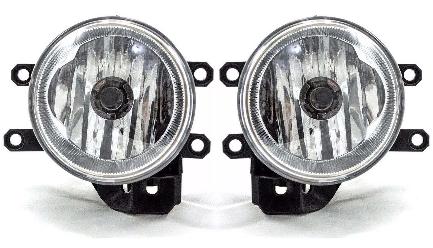 Kit Farol de Milha Neblina Toyota Yaris Com Moldura - Interruptor Modelo Original + Kit Lâmpada Super LED Headlight H11 6000K 12V e 24V 32W 2200LM