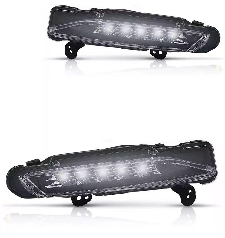 Kit Farol de Milha Neblina Toyota Yaris Hatch e Sedan Com LED DRL