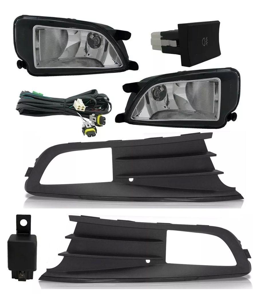 Kit Farol de Milha Neblina Vw Gol Voyage G6 2012 2013 2014 2015 Com Kit Xenon 6000K / 8000K ou Kit Lâmpada Super LED 6000K
