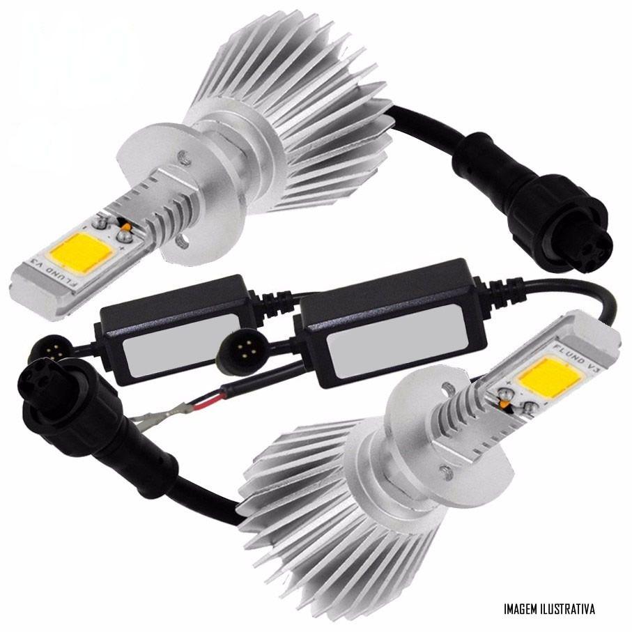 Kit Lâmpada Super LED Headlight H1 6000K 12V e 24V 32W 2200LM Efeito Xenon