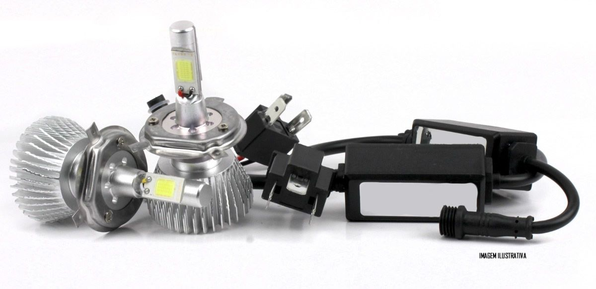 Kit Lâmpada Super LED Headlight HB3 6000K 12V e 24V 32W 2200LM Efeito Xenon