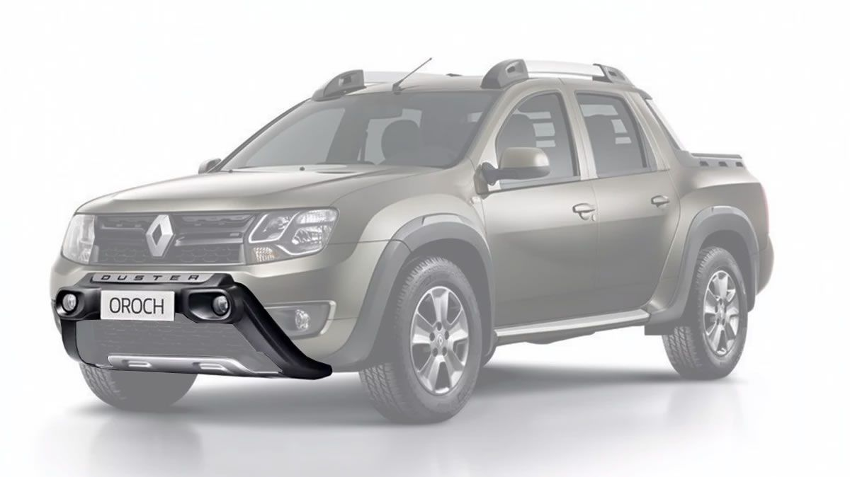 Kit Overbumper Frontal TG Poli + Kit Farol de Milha Neblina Renault Duster e Oroch 2015 2016 2017 2018 2019 2020