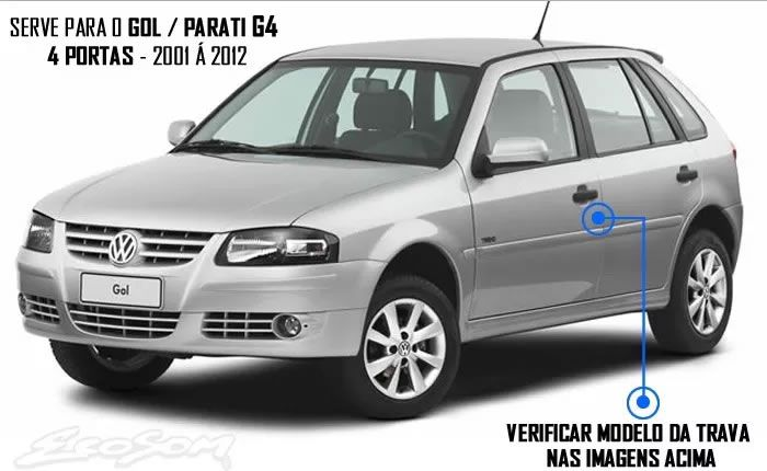 Kit Trava Elétrica Tragial Vw Fox 2003 2004 2005 2006 2007 2008 2009 Gol Parati G3 G4 2006 2007 2008 2009 2010 2011