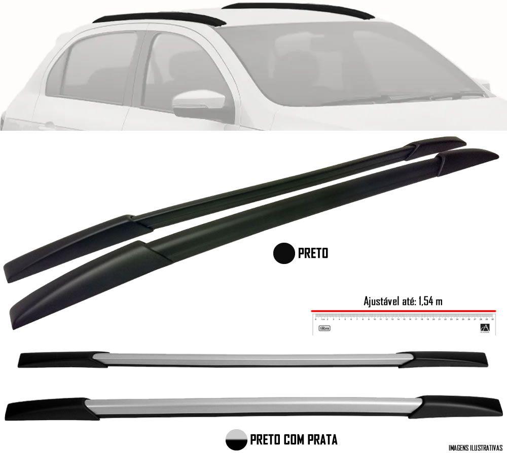 Longarina de Teto Decorativo Universal TG Poli Aplicável Até 1,54 metros - Preto Com Prata Aluminium ou Preto