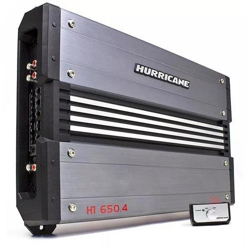 Módulo Amplificador Hurricane H1 650.4 5200W RMS 4 Canais 2 Ohms RCA
