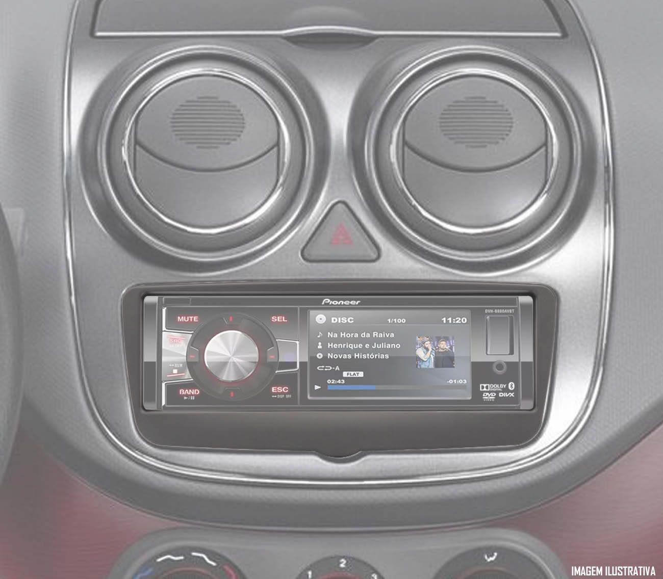 Moldura De Painel 1 Din Fiat Grand Siena 2013 2014 2015 2016 2017 2018 - Para CD DVD MP3 - Padrão Original