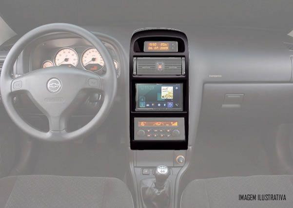Moldura De Painel 2 Din Chevrolet Astra 1998 1999 2000 2001 2002 2003 2004 2005 2006 2007 2008 2009 2010 2011 2012 - Ar Condicionado Digital