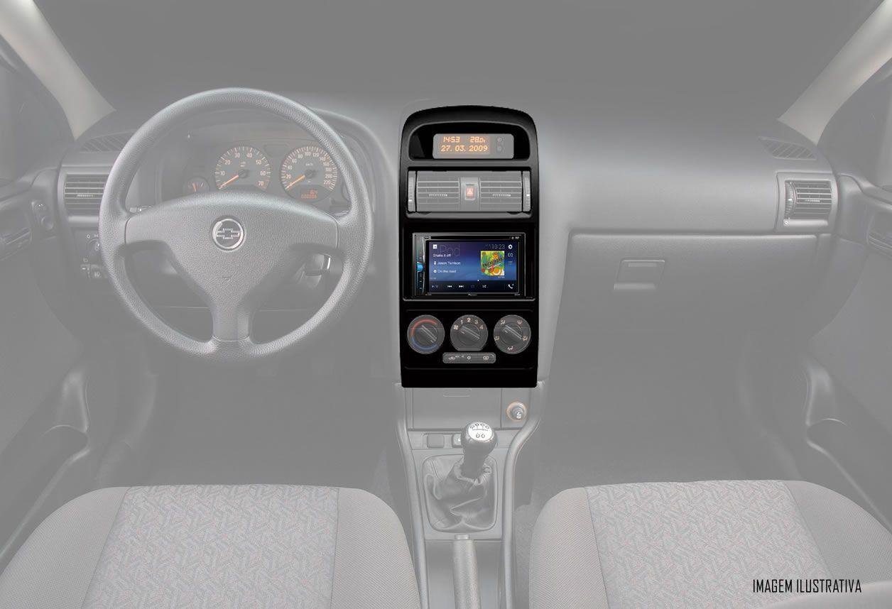 Moldura De Painel 2 Din Chevrolet Astra 1998 1999 2000 2001 2002 2003 2004 2005 2006 2007 2008 2009 2010 2011 2012 - Ar Condicionado Analógico