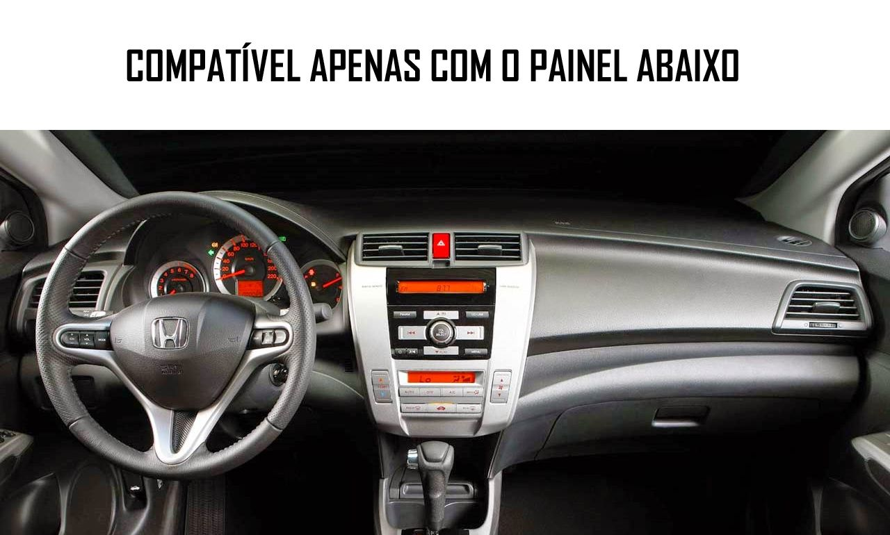 Moldura De Painel 2 Din Honda City 2009 2010 2011 2012 2013 2014 - Ar Condicionado Digital