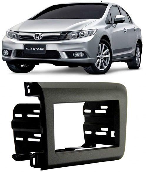 Moldura De Painel 2 Din Honda New Civic 2012 2013 2014 2015 2016