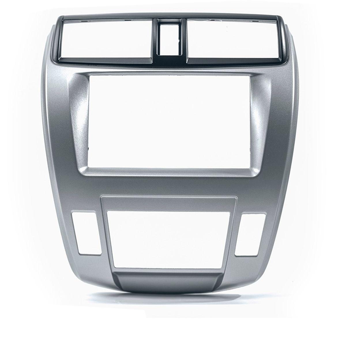 Moldura De Painel 2 Din + Interface Comando de Volante Honda City Ar Digital 2009 à 2014