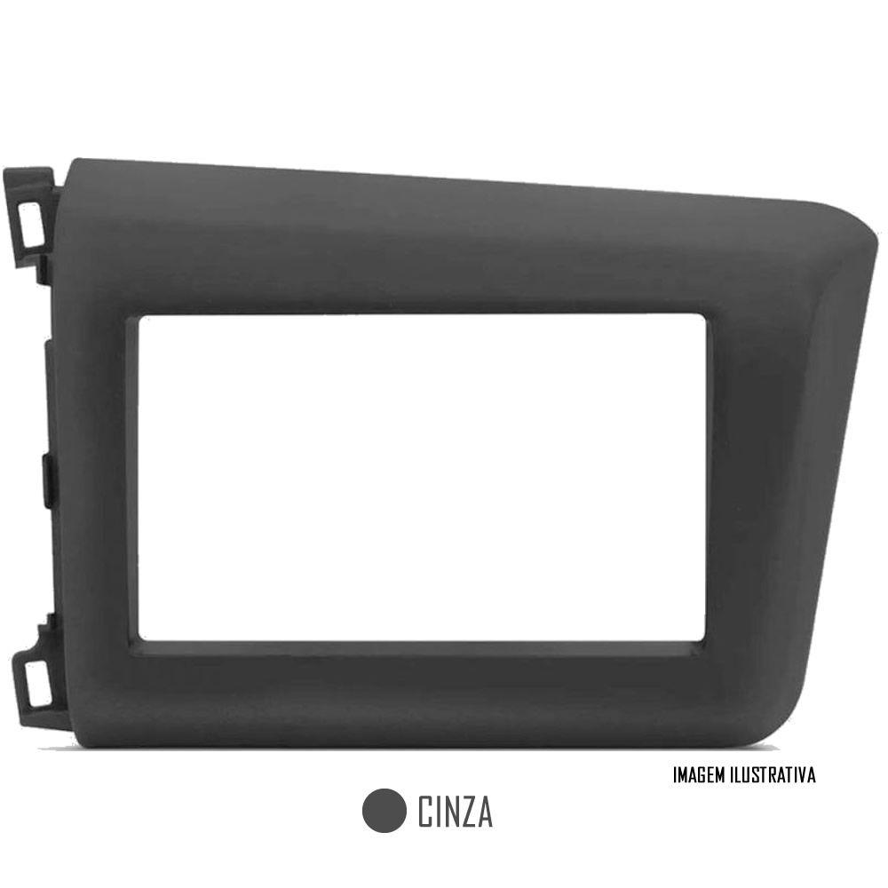 Moldura De Painel 2 Din + Interface Comando de Volante Honda New Civic 2012 2013 2014 2015 2016