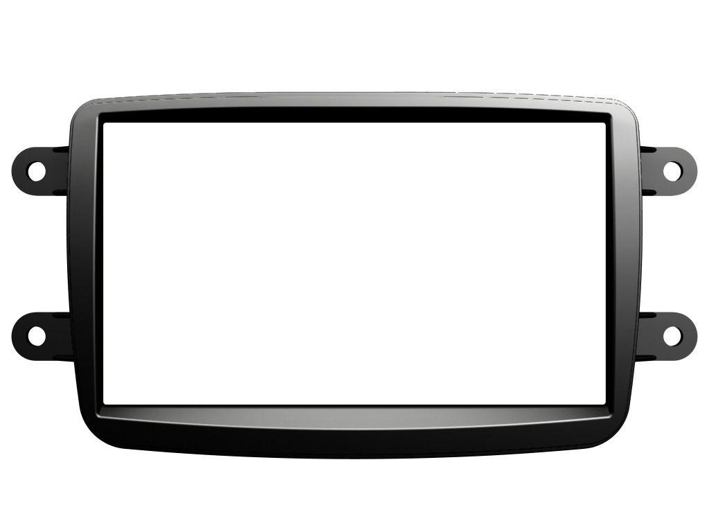 Moldura De Painel 2 Din Para CD DVD 2 Din + Chicote de Ligação + Chicote Adaptador de Antena Renault Kwid 2017 2018 Duster 2012 2013 2014 2015 2016 2017 2018  Oroch 2015 2016 2017 2018