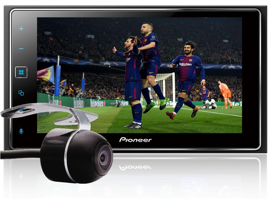"Moldura De Painel 2 Din Toyora Yaris 2018 2019 +  Multimídia 2 Din Pioneer SPH-DA138TV Tela 6,2"" Polegadas Com TV Digital Bluetooth Entrada USB Mixtrax Entrada Auxiliar MP3 + Câmera de R"
