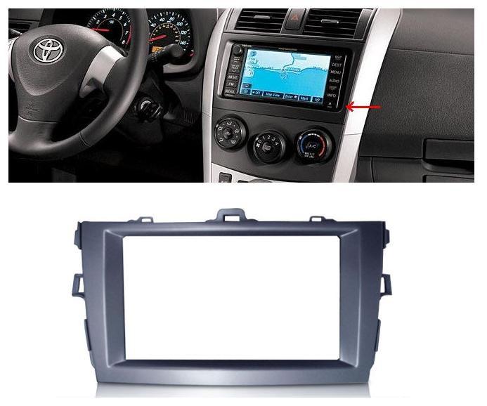 Moldura De Painel 2 Din Toyota Corolla 2009 á 2013 Para CD DVD 2 Dins - Padrão Original