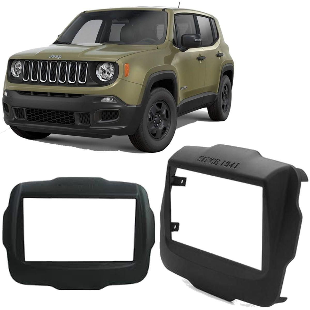 Moldura De Painel 2 Din Para Aparelho Original Jeep Renegade