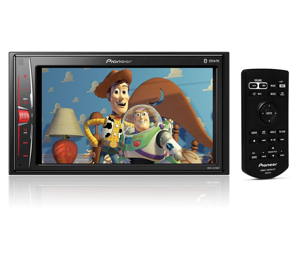 """Multimídia 2 DIN Pioneer MVH-A218BT Tela 6,2"""" - Espelhamento Android Bluetooth Entrada USB + Câmera de Ré + Receptor Sintonizador TV Digital"""