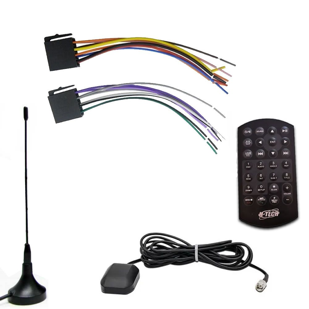 Multimídia H-Tech HT-5019 DVD GPS Espelhamento Android iPhone IOS TV Digital Bluetooth + Câmera de Ré