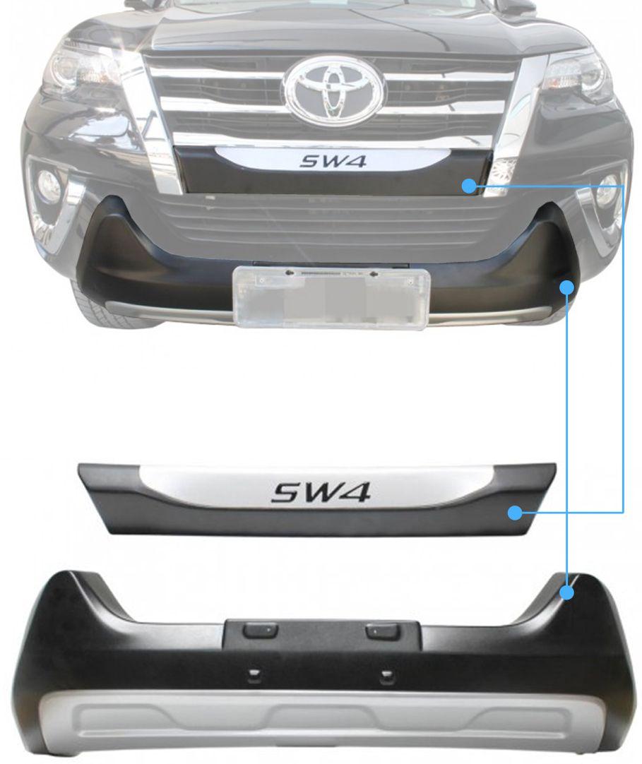Overbumper Protetor Frontal Toyota Hilux SW4 2016 2017 2018 2019 2020