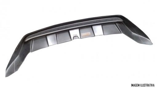 Overbumper Protetor Frontal Vw Amarok 2017 2018 2019 - Preto com Prata Aluminium