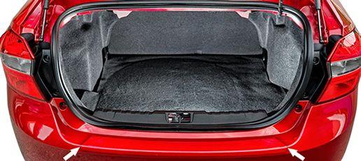 Protetor de Porta Malas Incolor Ford Novo Ka Sedan 2015 2016 2017 2018 Adesivo