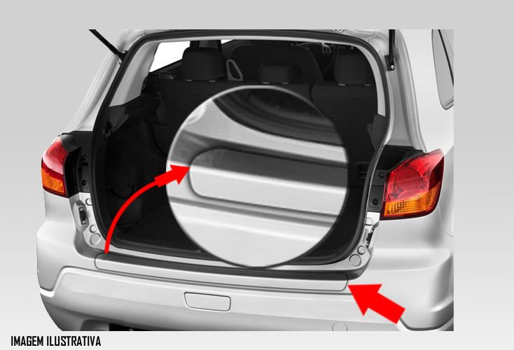 Protetor de Porta Malas Incolor Mitsubishi ASX 2011 2012 2013 2014 2015 2016 2017 2018 Adesivo