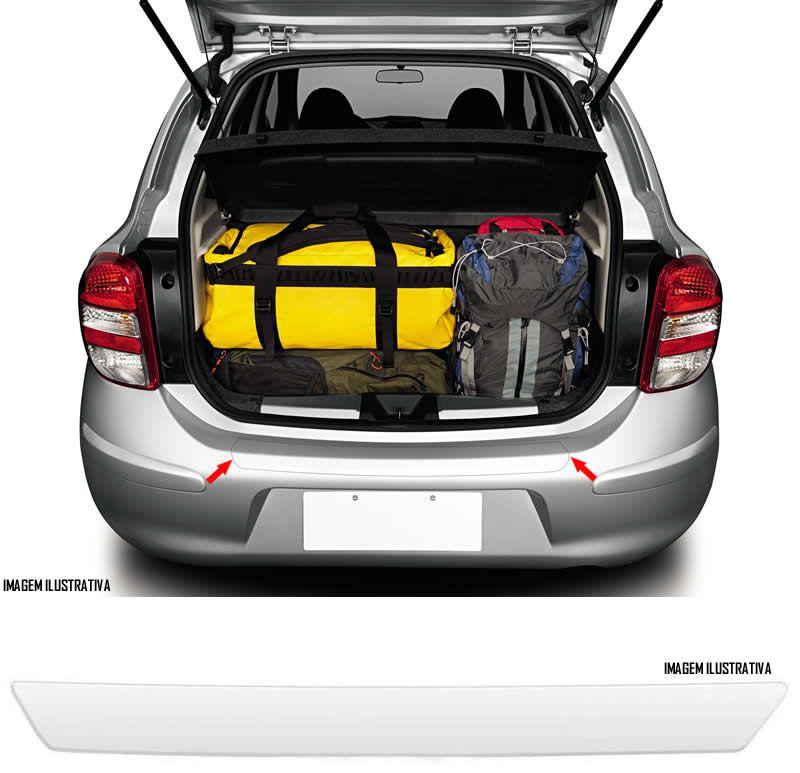Protetor De Porta Malas Incolor Nissan March 2012 2013 2014 2015 2016 2017 2018 Adesivo