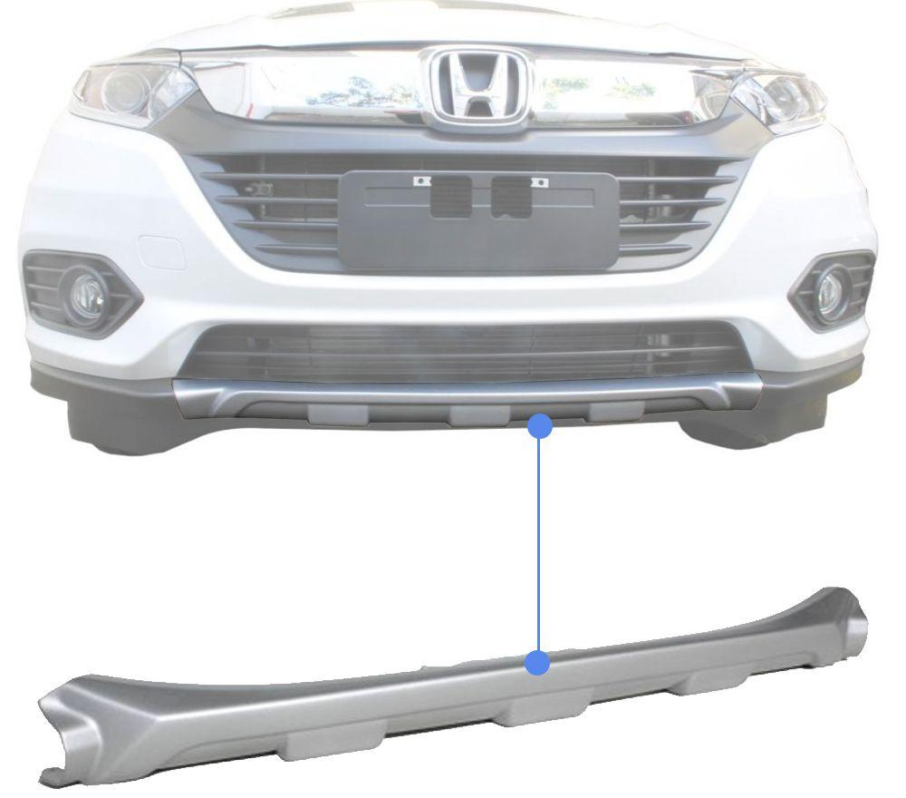 Protetor Dianteiro de Para-Choque TG Poli Honda HRV 2019 2020 - Prata Aluminium