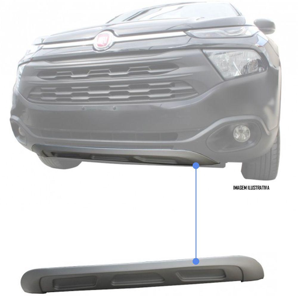 Protetor Inferior Dianteiro TG Poli Fiat Toro 2016 2017 2018 2019 - Prata Aluminium