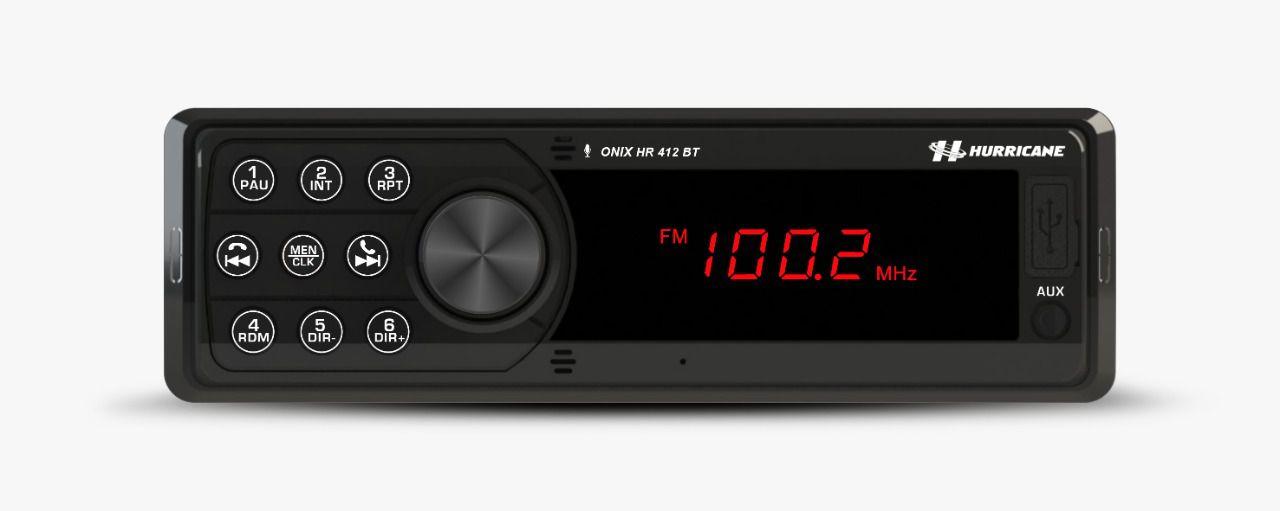 Rádio MP3 Hurricane Bluetooth USB HR 412BT