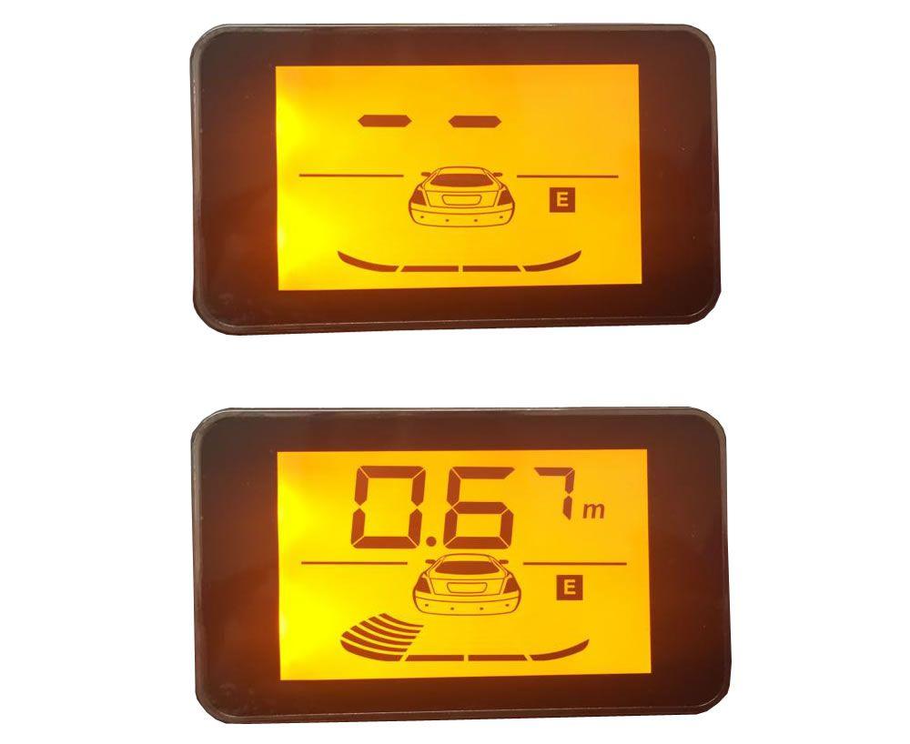 """Sensor de Estacionamento Hurricane com Display de LED 4,3"""" - 4 Sensores - Preto"""