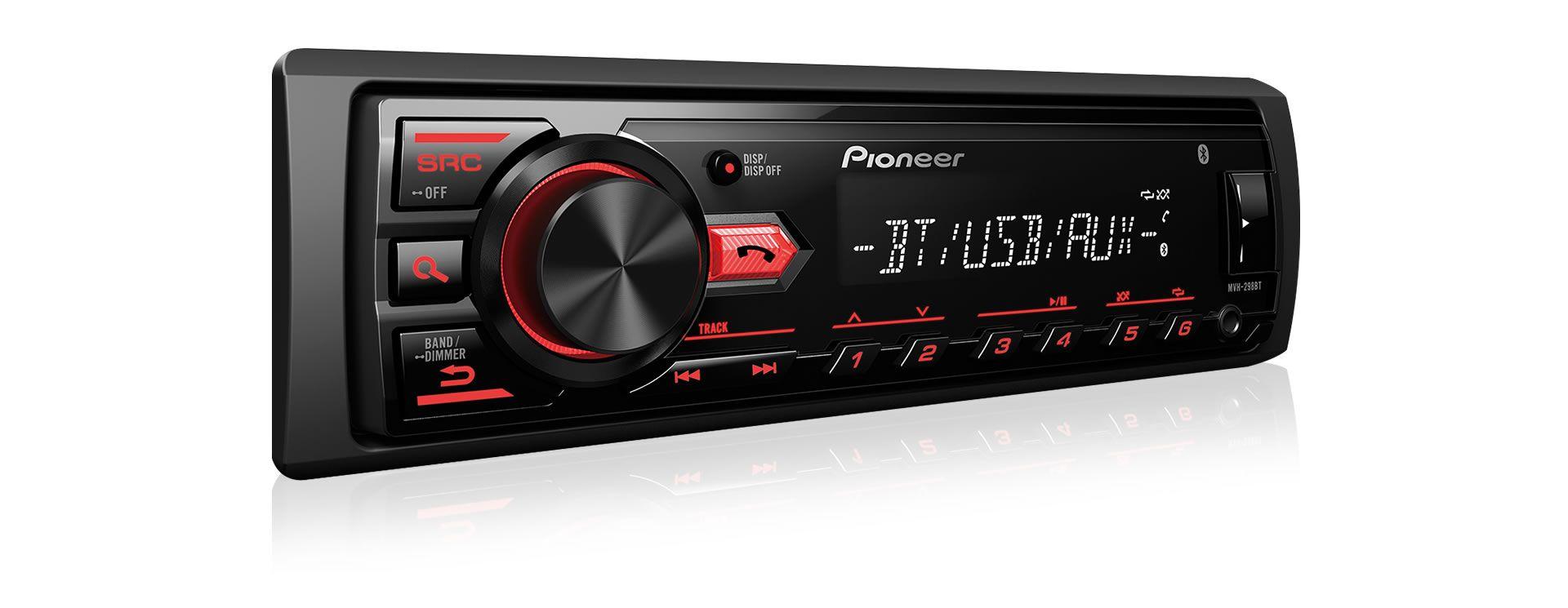 Som Automotivo Media Receiver Pioneer MVH-298BT Com Bluetooth, Entrada USB, Entrada Auxiliar