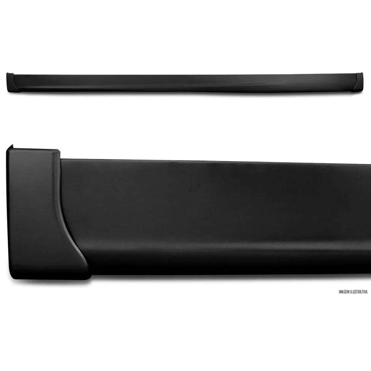Spoiler Lateral Universal Avangard TG Poli Aplicável de 1,65 metros a 2,05 metros - Preto