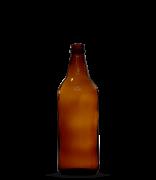 Garrafa Âmbar Cerveja Artesanal Caçula 600 ml (caixa c/ 24)