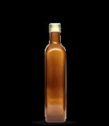 Garrafa Marrom Azeite Quadrado grande 500 ml (caixa c/ 24)