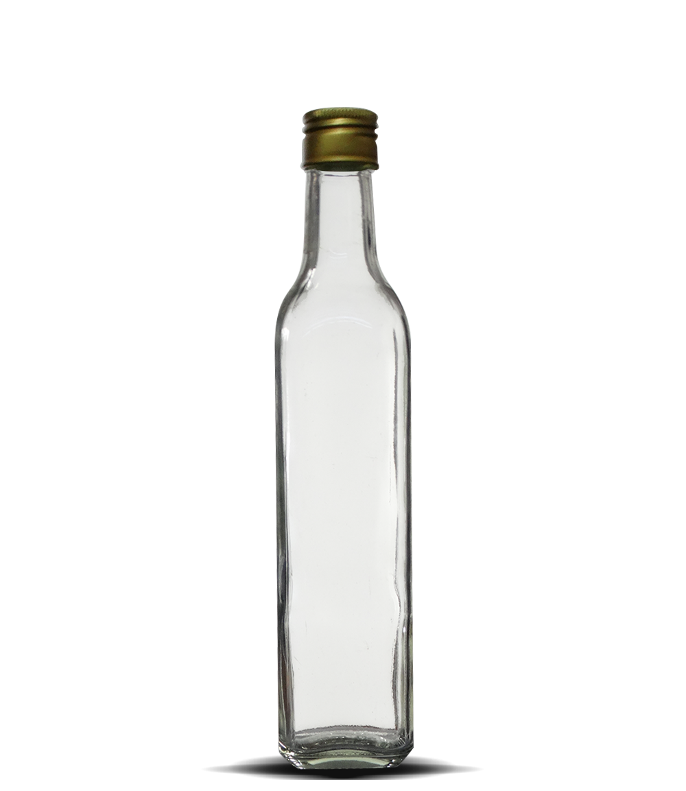 Garrafa Azeite Quadrado grande 500 ml (caixa c/ 24)