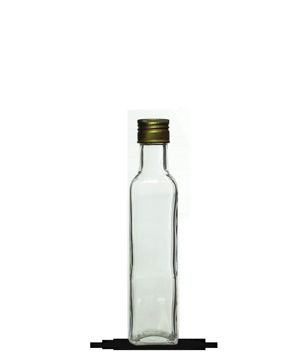 Garrafa Azeite Quadrado Pequeno 250 ml (caixa c/ 40)