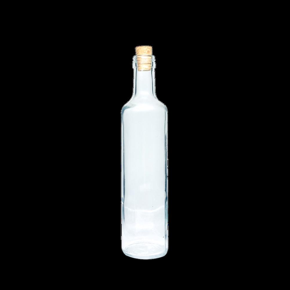 Garrafa Azeite Redondo grande 500 ml (caixa c/ 24)