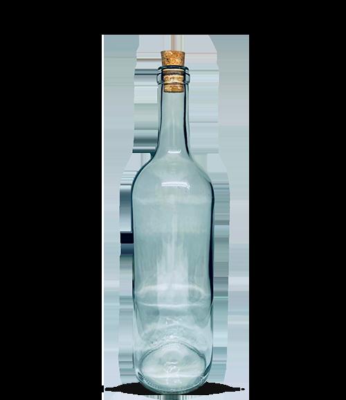 Garrafa Bordaleza Vinho 750 ml Incolor (caixa c/ 12)
