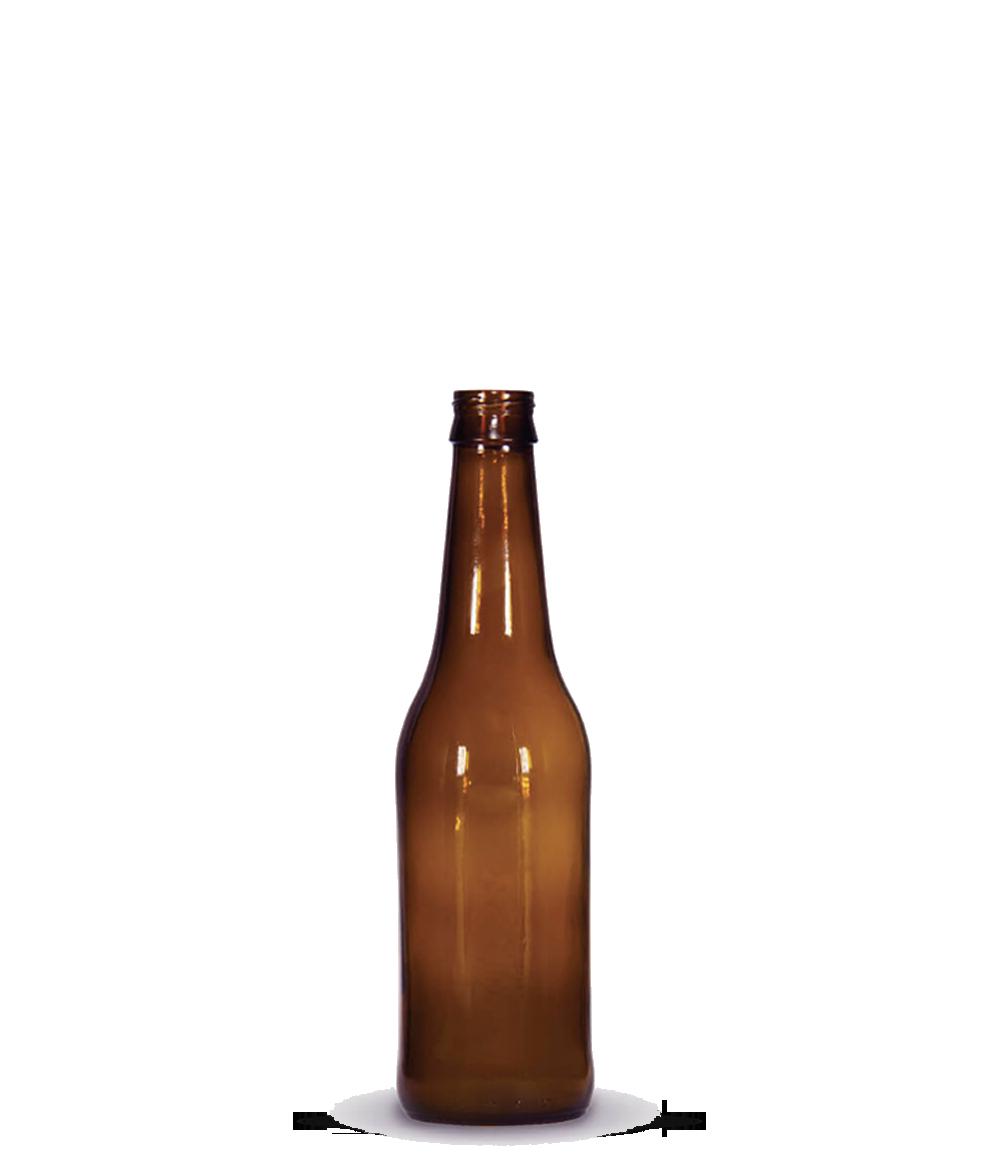 Garrafa Long Neck Âmbar 350 ml (caixa c/ 24)