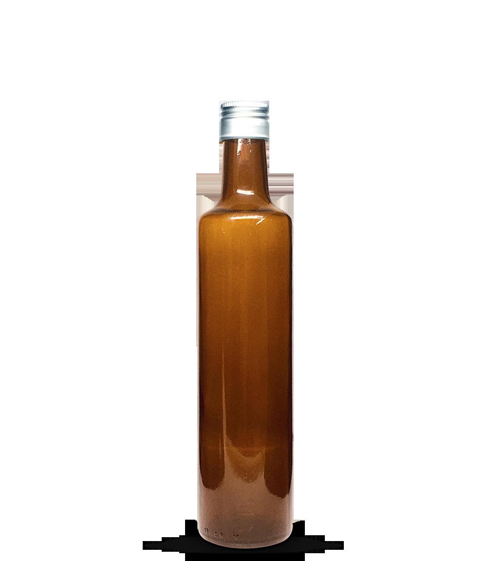 Garrafa Marrom Azeite Redondo Grande 500 ml (caixa c/ 24)