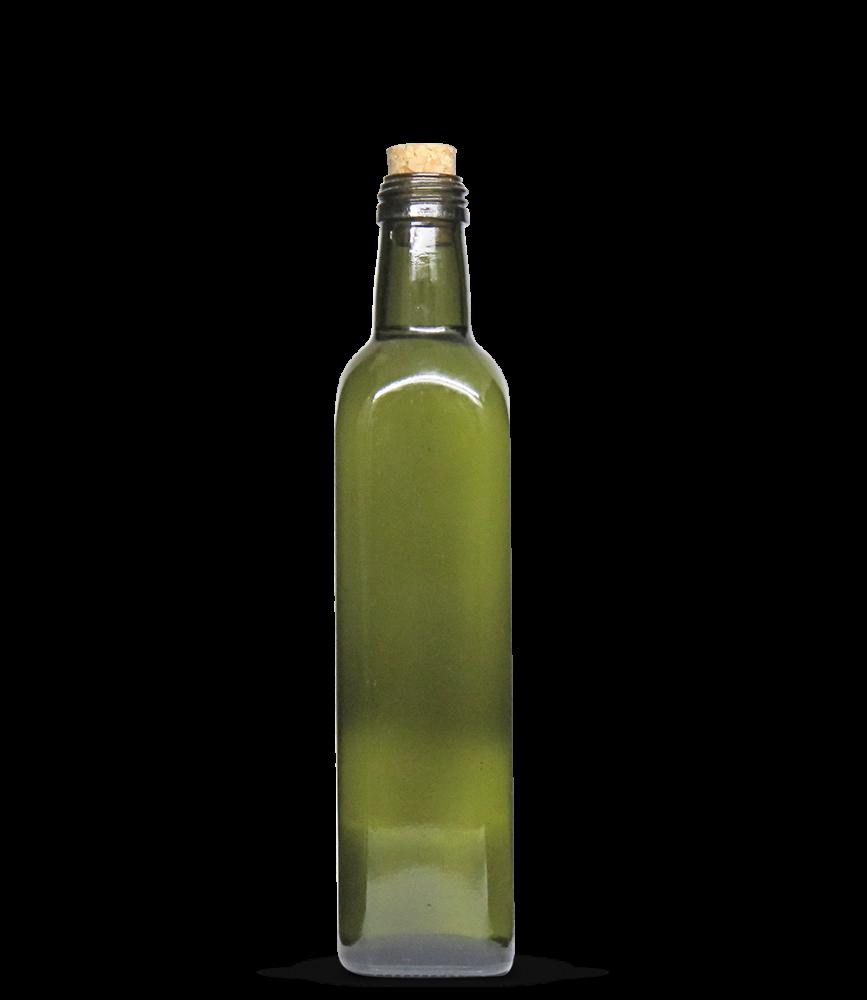Garrafa Verde Azeite Quadrado grande 500 ml (caixa c/ 24)