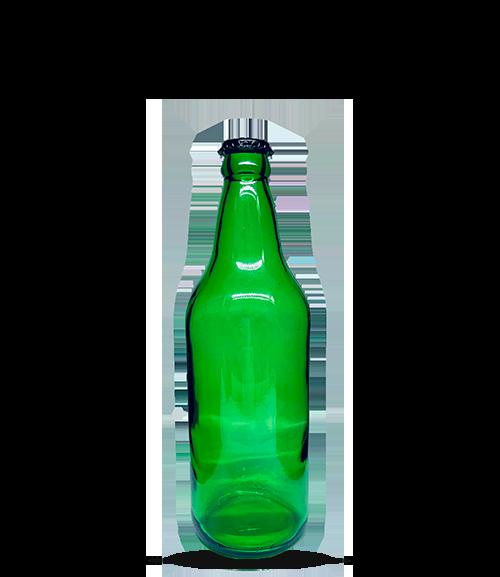 Garrafa Verde Cerveja Artesanal Caçula 600 ml (caixa c/ 24)