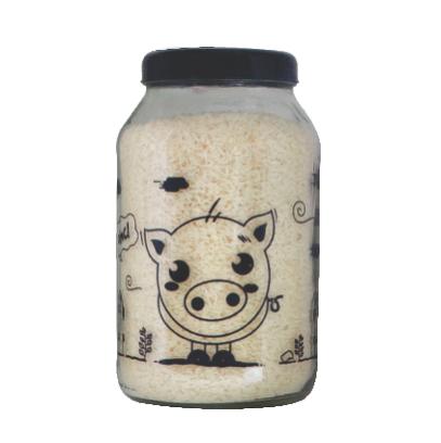 Kit Potes 3 lts Linha Bichos - Coruja/Galinha/Ovelha/Porco/Vaca