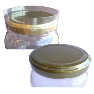 Lacre TermoEncolhível 58mm - Potes  (Pct c/ 50)