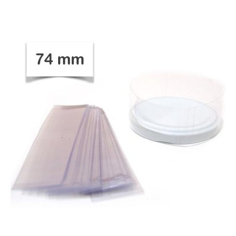 Lacre TermoEncolhível 74mm - Potes  (Pct c/ 50)