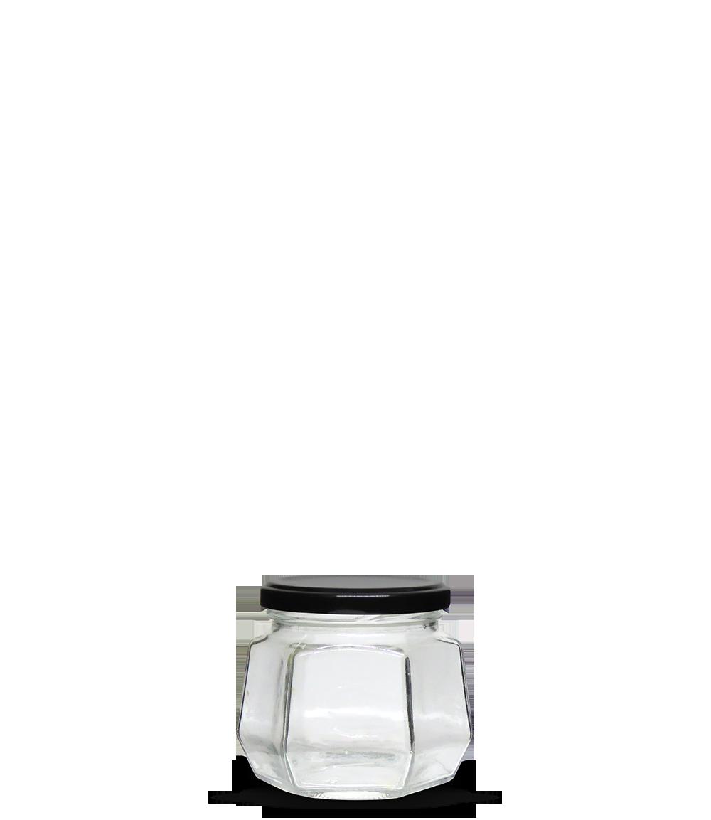 Pote Geleia Sextavado 260 ml (caixa c/ 23)