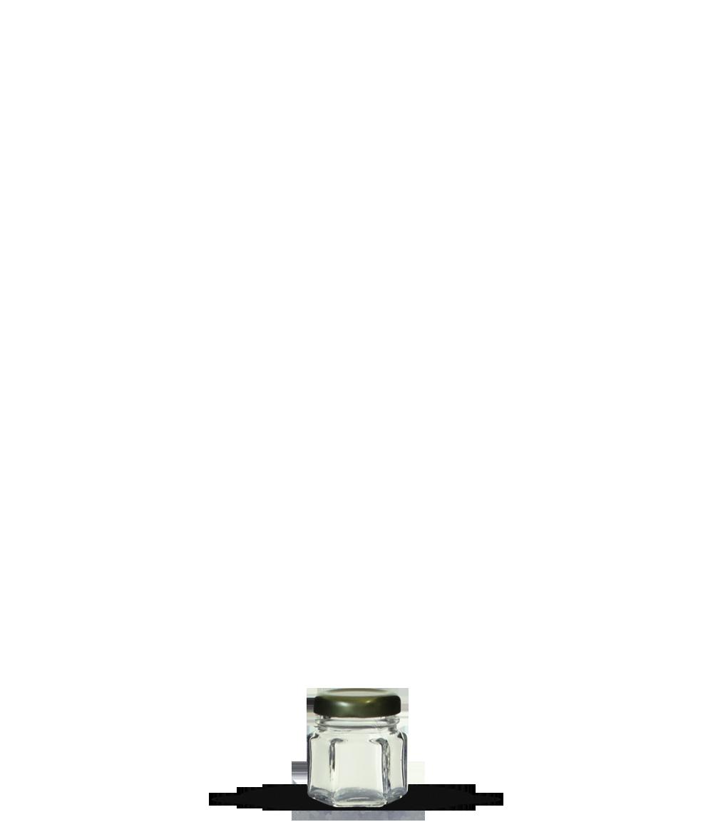Pote Geleia Sextavado 40 ml (caixa c/ 96)